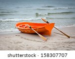 Lifeboat On The Baltic Seashore