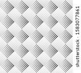 geometrical seamless monochrome ... | Shutterstock .eps vector #1583077861