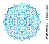 mandala. vector circle ornament.... | Shutterstock .eps vector #158310329