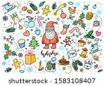 christmas and new year greeting ... | Shutterstock .eps vector #1583108407
