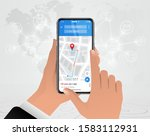map gps navigation finger...   Shutterstock .eps vector #1583112931