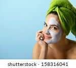 beautiful young woman with... | Shutterstock . vector #158316041