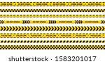 police tape set  yellow warning ... | Shutterstock .eps vector #1583201017