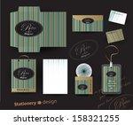 retro stationery | Shutterstock .eps vector #158321255