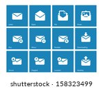 envelope icons on blue...
