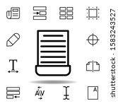 cut  document icon. can be used ...
