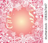 golden card for winter holidays ... | Shutterstock .eps vector #1583267647