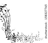 black music notes isolated on a ... | Shutterstock . vector #158327765