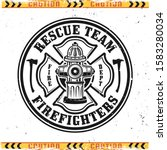 firefighters vector round... | Shutterstock .eps vector #1583280034