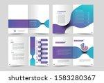 tri fold brochure design...   Shutterstock .eps vector #1583280367