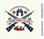 hunting club. vector.  vintage... | Shutterstock .eps vector #1583282551