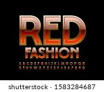 vector luxury sign red fashion. ... | Shutterstock .eps vector #1583284687