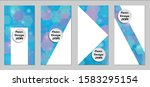 modern tech covers with blue... | Shutterstock .eps vector #1583295154