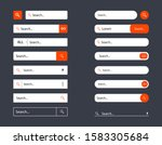 search bar templates design set ...