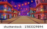 Panorama Chinese Street With...