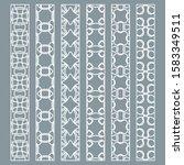 vector set of line borders with ... | Shutterstock .eps vector #1583349511