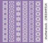 vector set of line borders with ... | Shutterstock .eps vector #1583349514