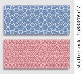 seamless horizontal borders... | Shutterstock .eps vector #1583349517