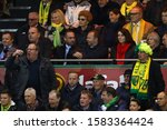 Small photo of Vice-chairman of Manchester United, Ed Woodward looks on amongst disgruntled Norwich City fans - Norwich City v Manchester United, Premier League, Carrow Road, Norwich, UK - 27th October 2019