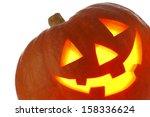 halloween pumpkin  funny jack o'... | Shutterstock . vector #158336624