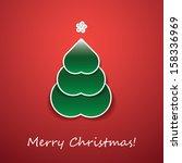 christmas card | Shutterstock .eps vector #158336969
