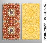 vertical seamless patterns set  ... | Shutterstock .eps vector #1583374657