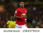 Small photo of Marcus Rashford of Manchester United - Norwich City v Manchester United, Premier League, Carrow Road, Norwich, UK - 27th October 2019 Editorial Use Only - DataCo restrictions apply