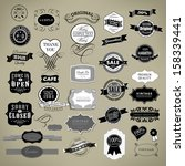 retro vintage labels collection ... | Shutterstock .eps vector #158339441