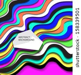 abstract modern colorful ... | Shutterstock .eps vector #158339501