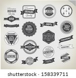premium quality  guarantee and... | Shutterstock .eps vector #158339711