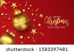 modern merry christmas and... | Shutterstock .eps vector #1583397481
