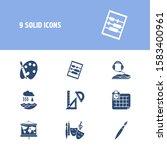 education icon set and abak...