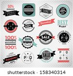 premium quality  guarantee and... | Shutterstock .eps vector #158340314