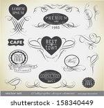 calligraphic design elements... | Shutterstock .eps vector #158340449