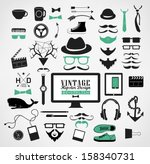 hipster style elements  icon...