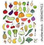 collection of colorful... | Shutterstock .eps vector #1583407411