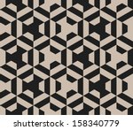 seamless vector geometric strip ... | Shutterstock .eps vector #158340779