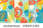 creative doodle art header with ... | Shutterstock .eps vector #1583411281