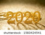 figure 2020 on color background.... | Shutterstock . vector #1583424541