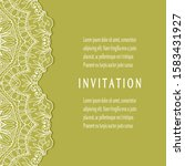 invitation or card template... | Shutterstock .eps vector #1583431927