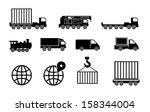 transportation and cargo vector ...   Shutterstock .eps vector #158344004