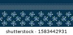 classic blue daisy floral... | Shutterstock .eps vector #1583442931