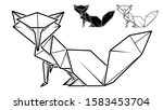 vector monochrome image of... | Shutterstock .eps vector #1583453704