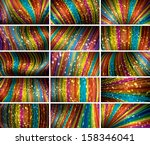 abstract bokeh background set  | Shutterstock . vector #158346041