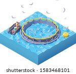 vector isometric feeding fishes ... | Shutterstock .eps vector #1583468101