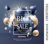 luxury christmas sale poster... | Shutterstock .eps vector #1583470261