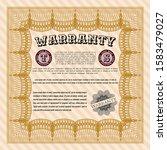 orange warranty certificate...   Shutterstock .eps vector #1583479027