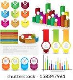 infographic element set | Shutterstock .eps vector #158347961