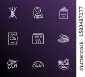 nutrition icons line style set... | Shutterstock . vector #1583487277