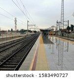 Train Waiting At The Station O...